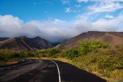在毛伊岛的农村路 免版税库存照片