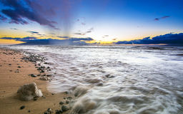 在毛伊,夏威夷海岛上的美妙的海滩  免版税库存照片