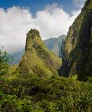 在毛伊,夏威夷的Iao针 库存图片