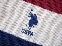 在毛织物品的USPA略写法 免版税库存图片