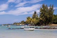 在毛里求斯北部的美丽的海滩 免版税图库摄影