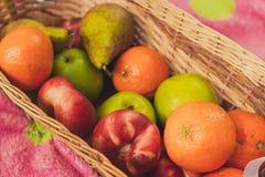 在毯子的果子 图库摄影