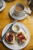 在氏族唐纳德,斯凯岛,苏格兰,英国的下午茶 图库摄影