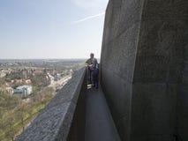 在民族大会战纪念碑的屋顶上,莱比锡 库存图片