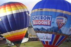 在气球下的亚洲泰国 图库摄影
