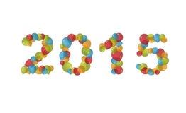在气球的新年2015年 库存照片