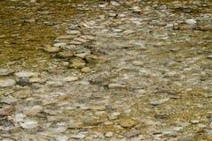 在水之下的石头 被弄脏的背景 库存照片