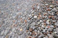 在水之下的石头 图库摄影