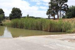 在水库决赛集水量的机器寿命 库存照片