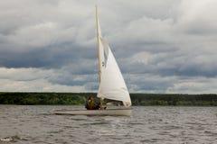 在水库的赛船会在哈尔科夫2017年 免版税图库摄影