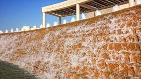 在水庭院的喷泉在科珀斯克里斯蒂 免版税图库摄影