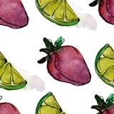 在水彩样式的鲜美果子 r E 向量例证
