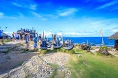 在水晶小海湾的旅游采取的照片,是一个小海岛Th 库存图片