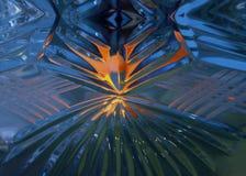 在水晶的光线 免版税库存图片