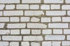 在水泥灰浆,背景,结构的灰色砖墙 库存图片