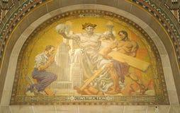 在水牛城香港大会堂的建筑壁画 库存照片