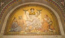 在水牛城香港大会堂的教育壁画 库存图片