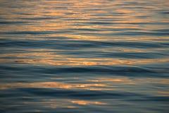 在水的反射在日落 库存照片