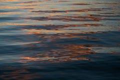 在水的反射在日落 库存图片