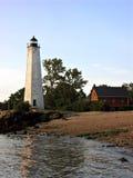 在水的灯塔 免版税图库摄影