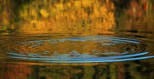 在水表面的波纹 图库摄影
