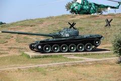 在永恒停车场的军事坦克`冷战` 免版税库存图片