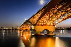 在汉江韩国的桥梁 免版税库存图片