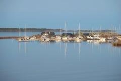 在汉科附近海岸的6月上旬早晨  芬兰 库存照片