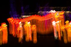 在汉语灯节的轻的展示 图库摄影