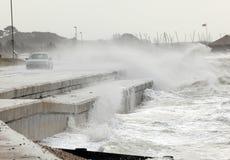 在江边的风暴 库存图片