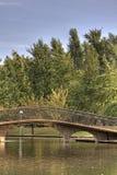 在池塘的桥梁 库存图片