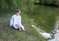 在池塘 免版税库存图片