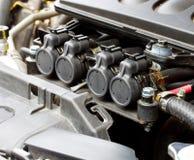 在汽油发动机1的气体注射器 库存照片