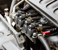 在汽油发动机2的气体注射器 免版税库存图片