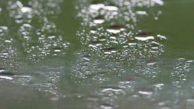 在汽车减阻帽的雨珠 影视素材