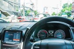 在汽车曼谷的交通堵塞 库存照片