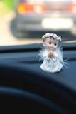 在汽车的守护天使 免版税图库摄影