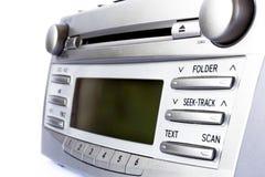 在汽车的收音机 库存照片