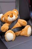 在汽车的玩具熊 免版税图库摄影