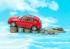 在汽车的税 免版税库存照片