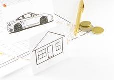 在汽车的贷款 库存图片