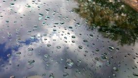 在汽车的水滴 免版税库存照片