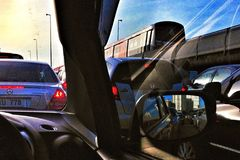 在汽车 免版税图库摄影