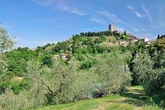 在沃尔泰拉,托斯卡纳,意大利附近的Montecatini 免版税库存照片