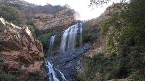 在沃尔特・西苏卢植物园的瀑布,南非 免版税图库摄影