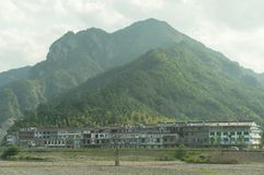 在沈仙居,中国附近的小村庄 库存图片