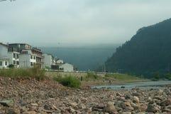 在沈仙居,中国附近的小村庄 免版税图库摄影