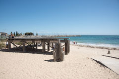 在沐浴者` s海滩的天 免版税库存照片