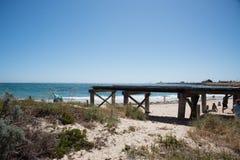 在沐浴者` s海滩的平台 免版税库存图片