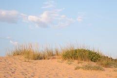 在沙丘外缘的蓝天 免版税图库摄影